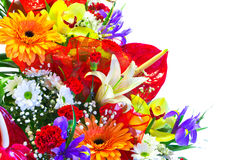 Bright Summer Flower Bouquet Stock Photos