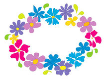 Bright summer flower ring stock photos