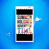 Bright summer holidays poster. Typography design. Vector illustr Royalty Free Stock Photos