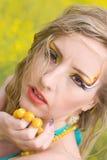 Bright summer make-up Royalty Free Stock Photos