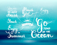 Bright summer motivational poster about beach Stock Photo