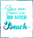 Bright summer motivational poster about beach Royalty Free Stock Photography