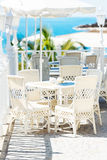 Bright summer outside street cafe at Tenerife Island Royalty Free Stock Photography