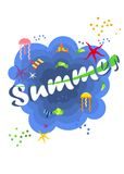 Bright summer poster Stock Photo