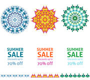 Bright Summer Sale Advertising Vertical Banners Stock Photography