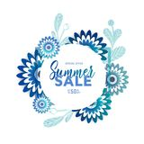 Bright summer sale banner, poster in trendy design Stock Photos