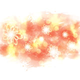 Bright summer spring glowing flowers watercolor background Stock Photo
