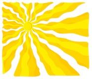 Bright summer sun. vector illustration