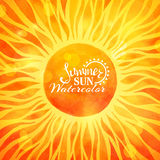 Bright summer sun background. Royalty Free Stock Photos