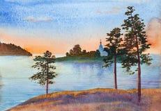 Bright summer sunset royalty free stock photos