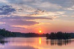 Bright summer sunset Stock Image