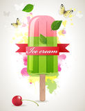 Ice lolly. Bright summer time background with ice lolly Royalty Free Stock Images