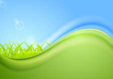 Bright summer wavy background Royalty Free Stock Image