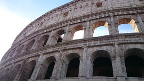 Bright summers day for the Colosseum. Sunshines brightly of the Colosseum Royalty Free Stock Image