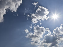 Bright sun Stock Images