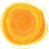 Yellow and Orange Hand Painted Sun Stock Images