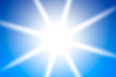 Bright sun background Stock Photography