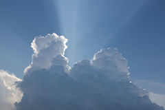 Bright sun behind cloud Stock Images