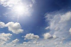 Bright sun in the blue sky Stock Image