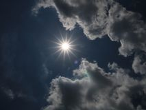 Bright sun on bright day royalty free stock images