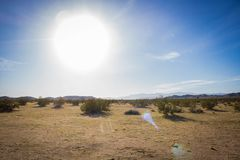 Bright Sun in Desert royalty free stock photo