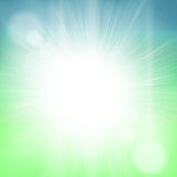 Bright sun light sky Royalty Free Stock Photography