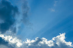 Bright sun light sky. Bright sun light with blue sky Royalty Free Stock Images