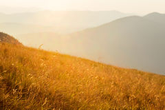 Bright sun in mountains Royalty Free Stock Images