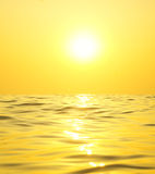 Bright sun over the sea. Nature composition Stock Images