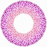 Pink round frame on white background. stock illustration