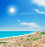 Bright sun and sea Stock Photos