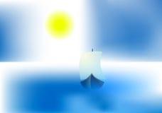 Bright sun ship vector Stock Photo