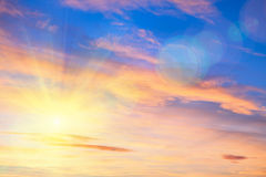 Bright sun on the sky Royalty Free Stock Photography