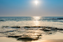 Bright sun on the surface of the sea Stock Photos