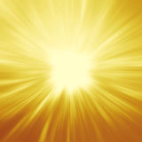 Bright sunbeams, shiny summer background with vibrant yellow & o Royalty Free Stock Photography