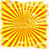 Bright Sunburst Grunge. Grunge background of yellow and orange bright retro sunburst rays Stock Photos