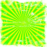 Bright Sunburst Grunge. Yellow and lime green bright retro sunburst of  rays grunge style Stock Photo