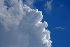 CUMULUS CLOUD WITH BRIGHT EDGE Royalty Free Stock Images