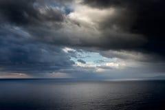 Bright sunlight over ocean Stock Photo