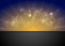 Bright sunlight vector background Royalty Free Stock Photography