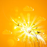 Bright sunny background. Vector illustration Royalty Free Stock Images