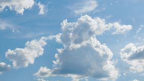 Bright sunny clouds, beautiful sky at day as background stock video footage