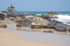 A bright sunny day at the beach Royalty Free Stock Photos