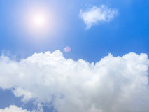 Bright Sunny Day in Blue sky and white clouds. Bright Sunny Day in Blue sky and white clouds of Autunm Royalty Free Stock Images