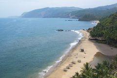 A bright sunny day at Cola beach, Goa, India royalty free stock images