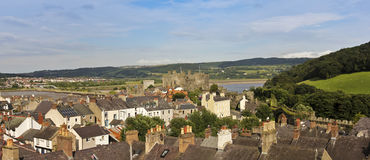 A Bright Sunny Day in Conwy, Wales Royalty Free Stock Images