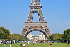Bright sunny day in Paris Royalty Free Stock Image