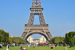 Bright sunny day in Paris Royalty Free Stock Photo