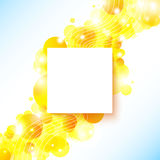Bright and sunny poster with a place for Your text Royalty Free Stock Images