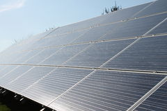 Bright and Sunny Solar Panels. This is a picture of my solar panels taken on a bright and sunny day Stock Images